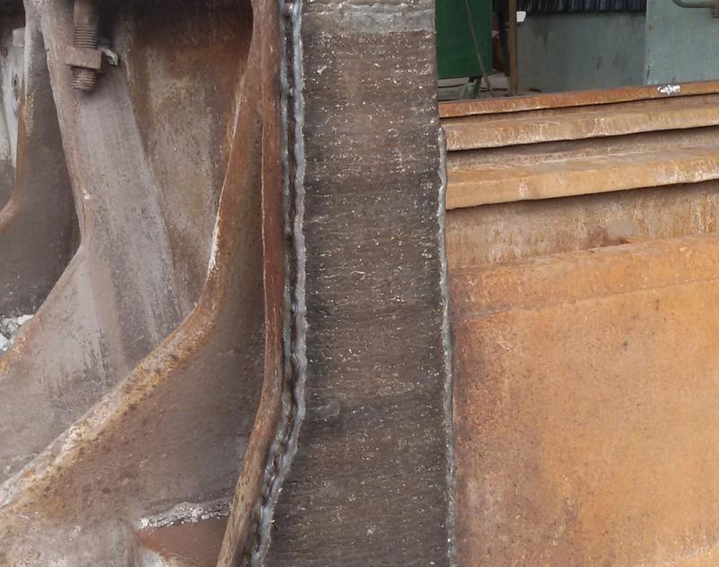 熔敷修复后的台车密封面